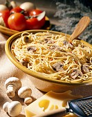 Spaghettis with mushrooms