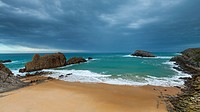 Arnia beach, Liencres Natural Park, Cantabria, Spain, Europe.