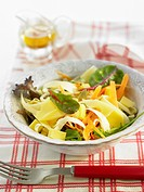 Parsnip,Emmental and carrot salad