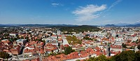 Panoramic view of the City from the Castle, Ljubljana, Slovenia