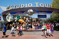 ENTRANCE TO THE STUDIO TOUR OF UNIVERSAL STUDIOS, LOS ANGELES, CALIFORNIA, UNITED STATES, USA