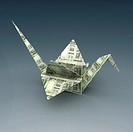 Origami - Bird made of Indian paper currency
