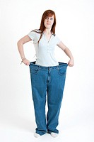 girl with baggy pants