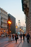 Alcala street at dawn. Madrid, Spain
