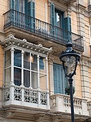 Enclosed balcony, Barcelona center, Spain.