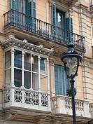 Enclosed balcony, Barcelona center, Spain.
