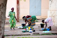 African kitchen, Mali.