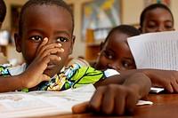 Gbonvie school library, Togo.