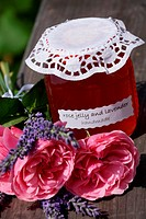 rose jelly with lavender