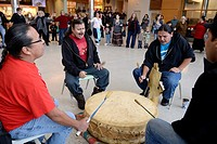 Windsor, Canada  January, 2013  'Idle No More' Round Dance at University of Windsor CAW Student Centre