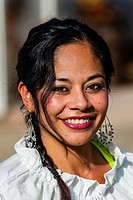 Latino woman, Old Town, San Diego, California USA