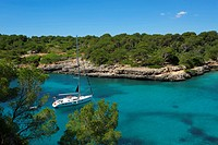 Balearic Islands, Majorca, Mallorca, Spain, Europe, outside, Cala Sa Nau, coast, seashore, coasts, seashores, coastal scenery, coastal, scenery, lands...