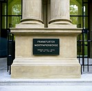 Entrance of the Stock Exchange Frankfurt, Germany