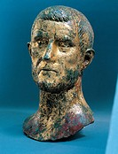 Portrait of Claudius Gothicus/ Claudius II, 3rd Century, gilded bronze,