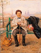 The Optimist, by Makovskij Vladimir Egorovic, 19th Century, 1894, oil on wood, cm 25 x 19
