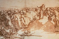 Drawing, by Tiepolo Giambattista, 18th Century, watercolor,