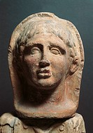 Terracotta votive male head, 3rd Century, terracotta,