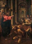 Christ at the Probatic Pool Cristo alla piscina probatica, by Ludovico Carracci, 16th Century, oil on canvas, 207 x 155 cm