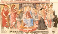 Madonna and Child, Saints and the donor Melchiorre Bendini Madonna col Bambino, Santi e il donatore Melchiorre Bendini, by Giovanni Angelo d´Antonio d...
