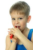 Junge 5 Zähneputzen