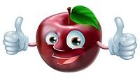Happy apple man
