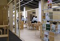 Teikyo University Elementary School, Tokyo, Japan. Architect: Kengo Kuma, 2012. Interior View_upper floor.