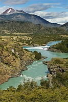 The Rio Baker flowing through a rugged Patagonian landscape, Chile.