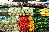 Grocery store produce isle, White Marsh Maryland USA