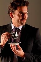 Geschäftsmann macht Kaffeepause