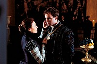 British actress Jacqueline Bisset caressing British actor Rufus Sewell in Dangerous Beauty. 1998. Dangerous Beauty, 1998, directed by Marshall Herskov...