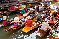 The Floating Market, Damnoen Saduak, Thailand