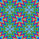 Modern maya pattern in vivid colors, seamlessly
