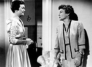 The US actresses Jane Wyman and Thelma Ritter in a scene of the film Lucy Gallant, directed by Robert Parrish; the movie is based on the novel The Lif...