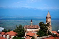 historical medieval city of Signagi in Kakheti region, Republic of Georgia, close to Tbilisi