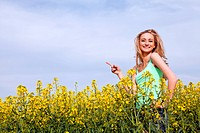 beautiful young girl happy in summer outdoor