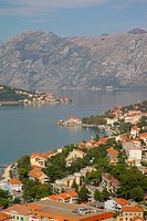 Europe, Montenegro, Kotor, View over Bay of Kotor