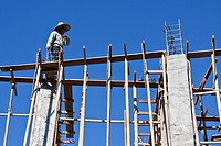 Baustelle in Chiang Mai, Thailand, Südostasien, Asien Construction site, Chiang Mai, Thailand, Asia