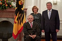 Dine in honor FM Schäuble of his 70th Birthday given by Federal President Joachim Gauck of German at Bellevue Palace in Berlin.