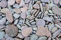 Close up of pebbles at a beach