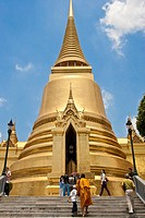 Golden Chedi, Wat Phra Kaew, The Grand Palace Bangkok , Thailand
