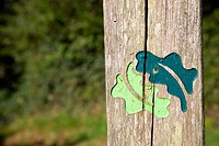 Kingswood, St Austell, Cornwall, UK, symbol on post