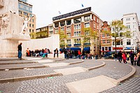 Dam square in Amsterdam Netherlands