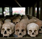 Khmer Rouge Killing Field of Choeung EK in Phnom Penh in Cambodia
