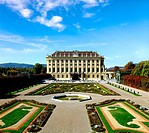 beautiful Schoenbrunn Palace in Vienna, Austria
