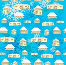winter country houses pattern