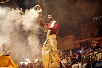 Aarti is a Hindu religious ritual of worship, a part of puja, in which light from wicks soaked in ghee purified butter or camphor is offered to one or...