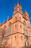 Red brick church in Berlin Germany