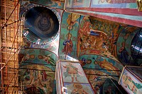 Old frescos in Russian church