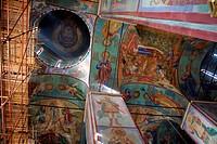 Old frescos in Russian church