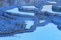 Pamukkale; Terrace Pools; Blue Water; UNESCO World Heritage Site; Turkey